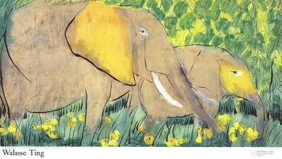 Walasse Ting 丁雄泉, 'Elephants (sm)', 1990