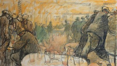 Norman Cornish, 'Crowded bar', ca. 1970