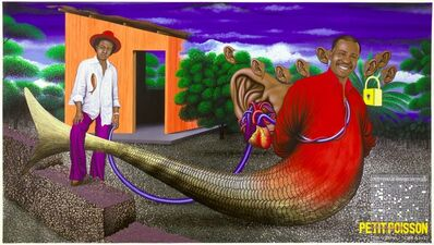 Chéri Samba, 'Le Secret d'un Petit Poisson Devenu Grand (The Secret of the Little Fish Who Grew)', 2002