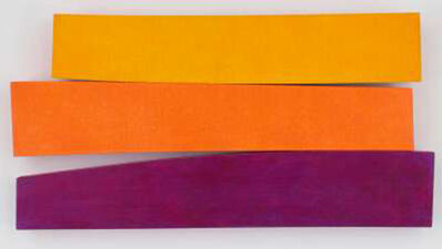Kenneth Noland, 'Flares: Hot Times', 1990