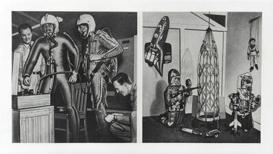 Eduardo Paolozzi, 'G. Space Age Archaeology. Left: Fathers. Right: Sons', 1971