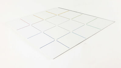Hans Jörg Glattfelder, 'neun kreuzungen in zentralen grau', 1989