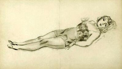 Walt Kuhn, 'Circus girl reclining ', 1929