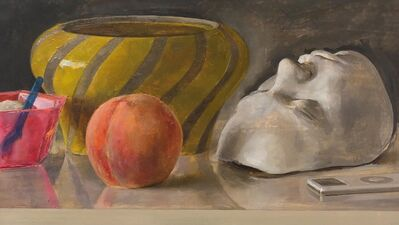 Andrew S. Conklin, 'Still Life with Italian Bowl, Life Mask, Peach and iPod', 2020