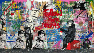 Mr. Brainwash, 'Mixed Wall', 2020