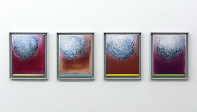 Alice Teichert, 'Solidarity - Four panels in red/fuscia/silver', 2020