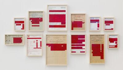 Marcius Galan, 'Bureaucratinc Paintings (Red) ', 2017