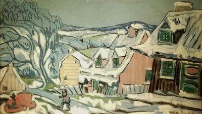 Marc-Aurèle Fortin, 'Baie-St-Paul (manière grise)', ca. 1936