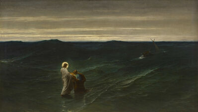 Gustave Brion, 'Jesus and Peter on the Water', 1863