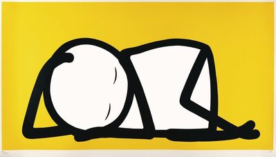 Stik, 'Sleeping Baby, Yellow', 2015