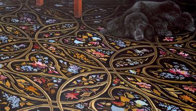 Karin Kneffel, 'Ohne Titel (Interieur mit Hund)', 2004