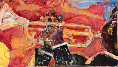 Romare Bearden, 'Solo Riff (Louis Armstrong)', 1986