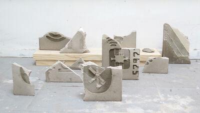 Ignacio Gatica, 'Ruinas de la Biblioteca del Sol (detalle)', 2016
