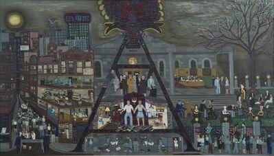 Ralph Fasanella, 'The Rosenberg's Grey Day', 1963