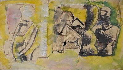Mario Sironi, ' Studies for Three Figures   Studio per le Tre Figure', 1948