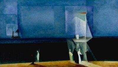 Lyonel Feininger, 'Blaue Marine (Blue Marine)', 1924
