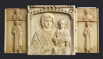 'Triptych Icon of the Virgin and Child with Saints', 10th century