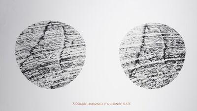 Richard Long, 'A Double Drawing of a Cornish Slate', 1995