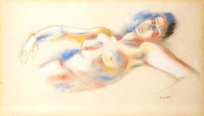 """André Lhote, 'Orignal Pastel """"Lying Woman"""" by André Lhote', Circa 1920"""