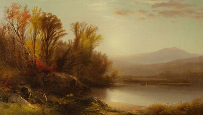 William M. Hart, 'Early Sun, Lake George', ca. 1860s