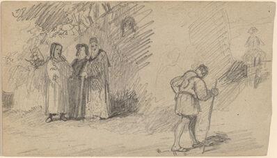 Elihu Vedder, 'Son and the Donkey', ca. 1859