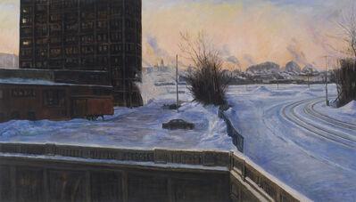 Peter Krausz, 'Gare de triage (hiver, tôt le matin)', 2011