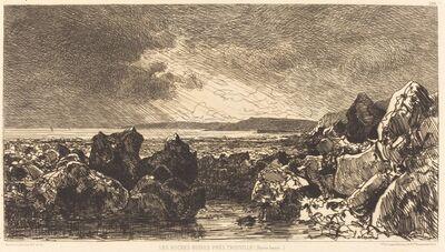 Maxime Lalanne, 'Les Roches noires près Trouville (Marèe Basse)', 1874