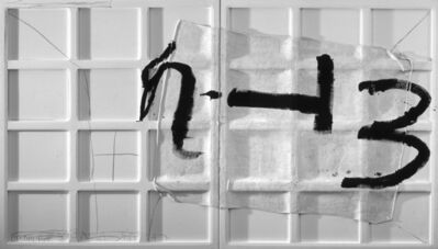 Antoni Tàpies, 'Signes negres', 2004