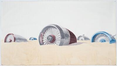 Los Carpinteros, 'Motores enterrados en la playa', 2015