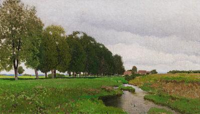 Ferdinand Brunner, 'Landscape with stream in Lower Austria', ca. 1920
