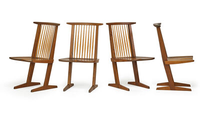 George Nakashima, 'Set of four Conoid chairs, New Hope, PA', 1969