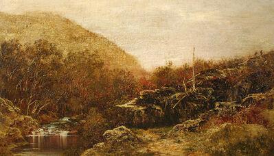 Ralph Albert Blakelock, 'Fall Landscape, Catskills, with Hikers', Late 19th century