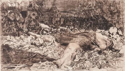 Käthe Kollwitz, 'Vergewaltigt', 1907-08