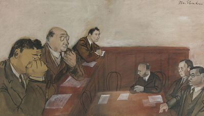 Ben Shahn, 'Senate Hearing, Lafollette and Thomas', 1937