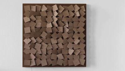 Zimoun, '121 prepared dc-motors, cardboard elements 8x8cm', 2011