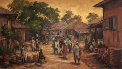 Kolade Oshinowo, 'Market', 1997