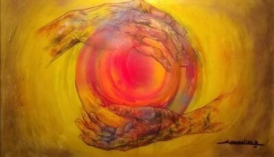 Ángel Caballero, 'Manos del Sol', 2019