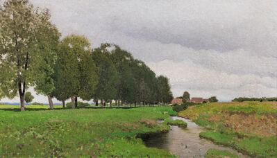 Ferdinand Brunner, 'Landscape with Stream in Lower Austria', 1920