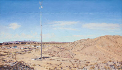 Rackstraw Downes, 'Sand Hills with Cell Tower, Presidio, TX, P.M', 2010