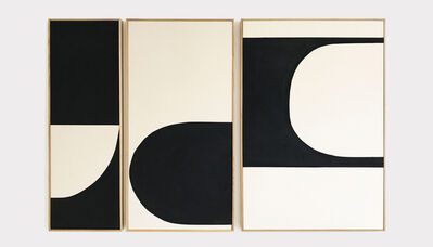 Liza Giles, 'BLACK ABSTRACT TRIPTYCH (COMPOSITION II)', 2019