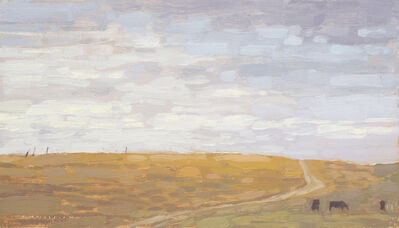 David Grossmann, 'Pasture road with clouded sky', ca. 2020