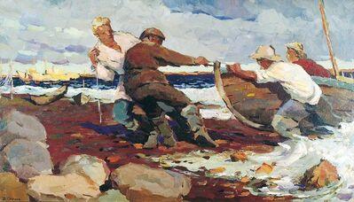 Vladimir Frolovich Stroev, 'Return from fishing', 1963