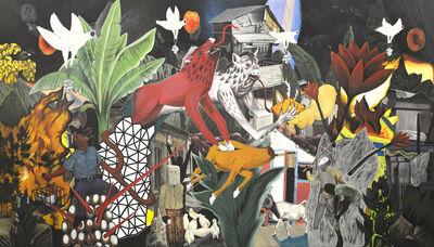 Rodel Tapaya, 'Aswangs enter the city', 2018
