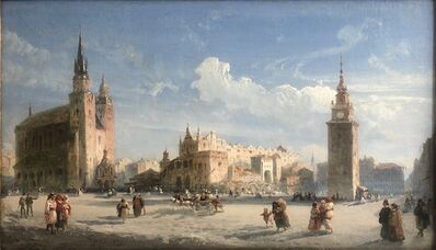 Carlo Bossoli, 'Mariacki Square with the Cloth Hall, Cracow', 1872