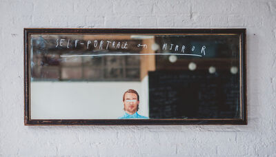 Oliver Jeffers, 'Self-Portrait on Mirror', 2014