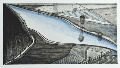 Wayne Thiebaud, 'Dark Hill River', 2002