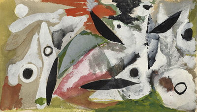 Ernst Wilhelm Nay, 'Two figures in black - white', 1948