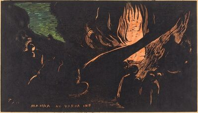 Paul Gauguin, 'Mahna no Varua Ino (The Devil Speaks)', 1894/1895