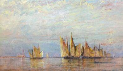 William Gedney Bunce, 'Venice Fishing Boats', 1886