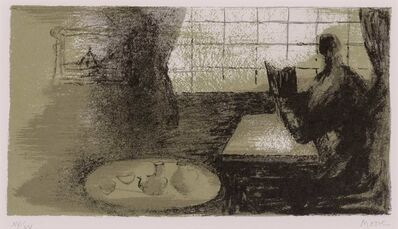 Henry Moore, 'GIRL READING AT WINDOW (C. 469)', 1977-1978